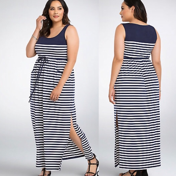 09875bf88c Torrid Navy blue and white striped maxi dress 2X. M_5aafccef5512fd17ef65c6ef